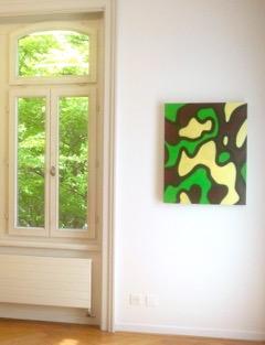 Emil Michael Klein, Öl/Acryl auf Leinwand, 2017, Ausstellungsansicht Museum im Bellpark