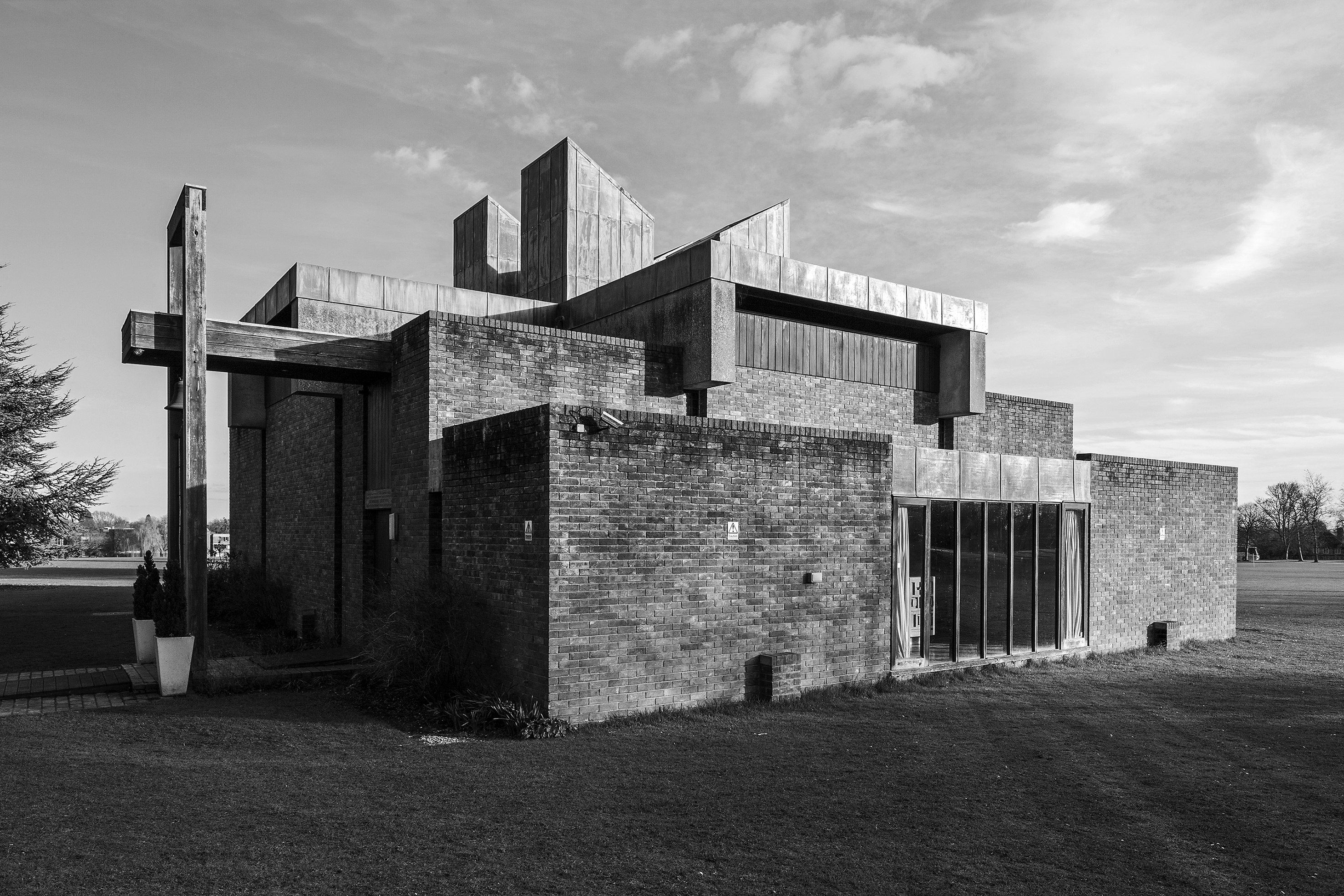 Simon Phipps: The Chapel at Churchill College, Cambridge, 1967, Architekt: Sheppard Robson © Simon Phipps, Courtesy Museum im Bellpark